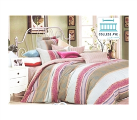 Pink Mural Twin XL Comforter Set - College Ave Designer Series Items For Dorms