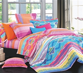 Pure Cotton - Azteca Twin XL Comforter Set - College Ave Designer Series - Very Colorful And Vibrant