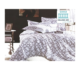 Elegant Design - Latticework Twin XL Comforter Set - College Ave Designer Series - Dorm Room Bedding