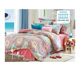 Quality Cotton Fabric - Persian Brush Twin XL Comforter Set - College Ave Designer Series - College Decorations Are Essential
