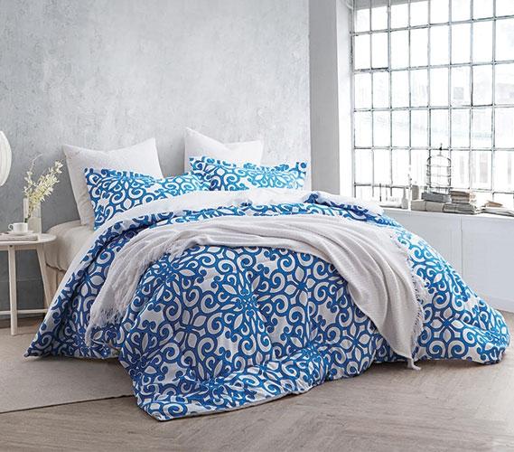 College Bedding Essentials Crystalline Blue Twin Xl