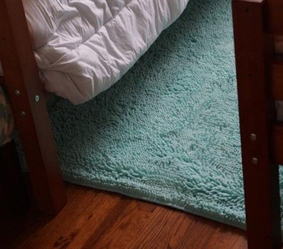 Chenille Area Rug Bleached Aqua Cute College Rugs Dorm