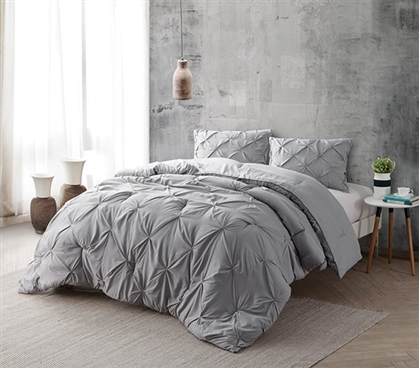 Alloy Pin Tuck Full Comforter Oversized Full Xl Bedding