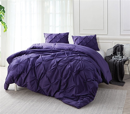 Purple Reign Pin Tuck Twin Xl Comforter