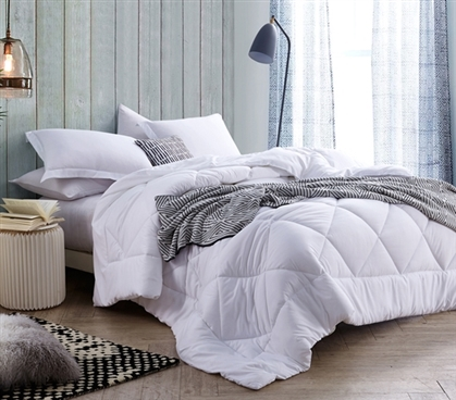 Solid White Full Comforter Oversized Full Xl Bedding