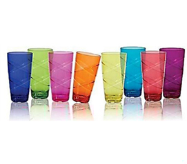 Acrylic Tumblers - 8 Pack