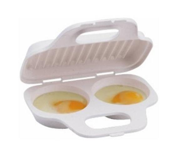 Tasty Dorm Meals Egg Poacher Microwave Egg Cooker