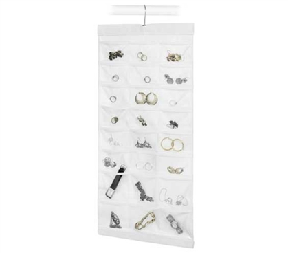 Hanging Jewelry File Closet organizer for jewelry girls dorm room