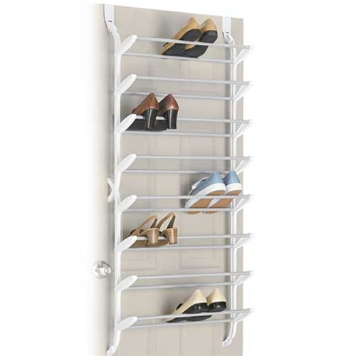24 Pair Shoe Rack Non Slip Over The Door Shoe Organizer