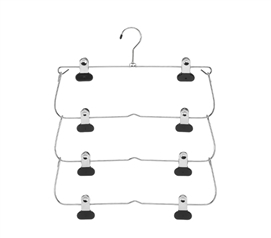4 Tier Fold-Up Hanger - For Pants/Skirts - Organize Closet
