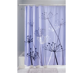Adds To Dorm Decor - Thistle Purple Shower Curtain - Pretty Color