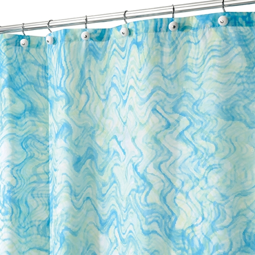 Watercolor Shower Curtain Blue And Green College Supplies Shower Curtain College Items Cheap