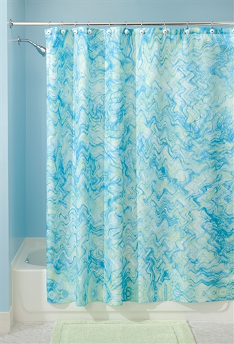 Watercolor Shower Curtain Blue And Green College
