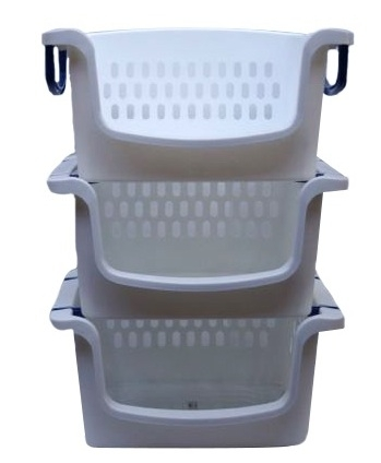 Essential For Dorms Stackable Carry Bins Set Of 3 Great For Laundry In College
