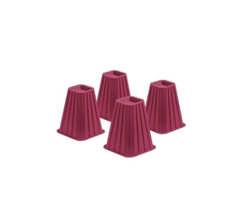 "Brings Space To Dorms -  Added Height Bed Risers (7.5"") - Raspberry Pink - Cool Color"