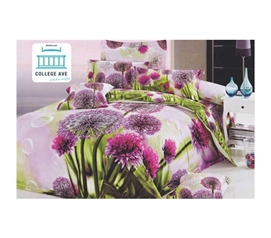 Twin XL Comforter Set - College Ave Dorm Bedding - Pretty Floral Design