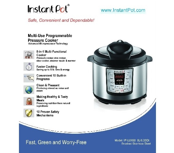 Instant Pot Multi Functional 6 Qt Cooker