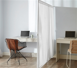 Dont Look At Me  Privacy Room Divider  Basics Extendable  White Frame