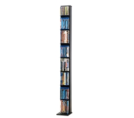 Clever & Sleek Entertainment Storage - Media Tower Elite 153 - Black