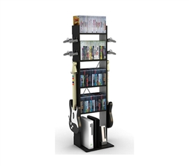 College Gaming Towers - Game Central Tall - Black