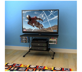 Elegant Yet Sleek Dorm Room Entertainment - Soho TV Stand - Black