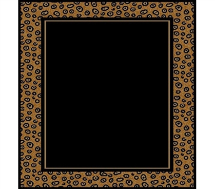Black Amp Leopard Stylish Dorm Room Floor Rug Designer
