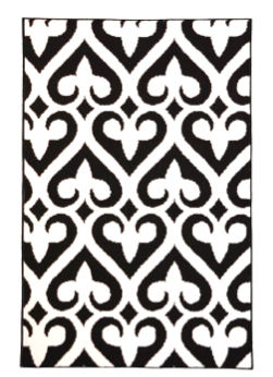 rugs add style to your dorm fleur de lis rug black and white a