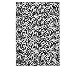 Animal Print Is In Style - Zebra 4' x 6' Rug - Black and White - Rugs Are Needed Dorm Products