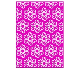 Add Fun Dorm Stuff - Hearts Blossom Rug - Pink and White - Dorm Room Decor Is A Must