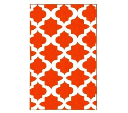 Quatrefoil College Rug Orange And White Dorm Products