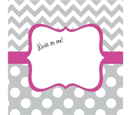 Canvas Kudos - Signable Wall Canvas - Whimsical Gray And Bright Pink