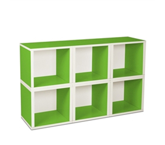 6 Modular Cubes Shelf Green Way Basics Dorm Useful
