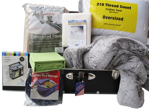 Guys Over Stuffed Dorm Bed In A Trunk Dorm Bedding Packages
