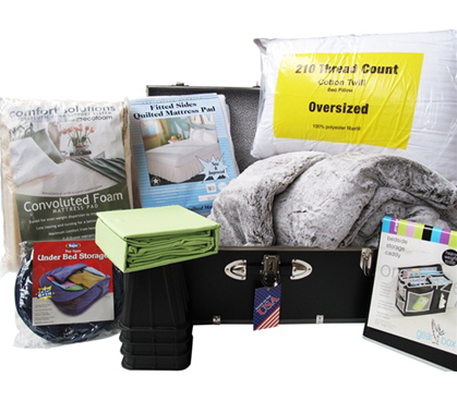 Ultimate Dorm Bedding Trunk Package Twin Xl College