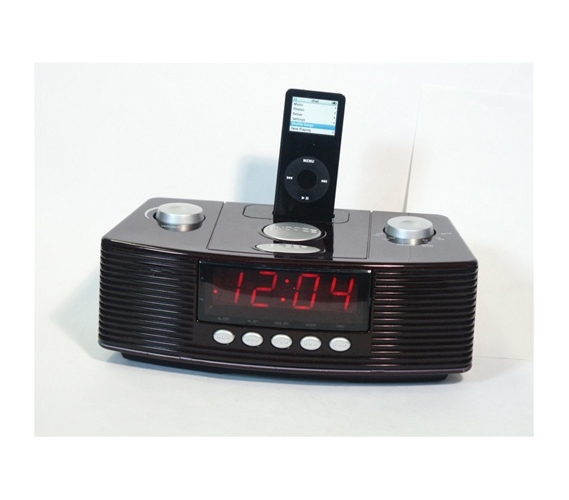 am fm mp3 clock radio with docking dorm alarm clocks. Black Bedroom Furniture Sets. Home Design Ideas