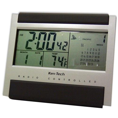 atomic radio controlled lcd alarm clock dorm alarm clocks dorm room needs college living dorm. Black Bedroom Furniture Sets. Home Design Ideas