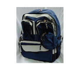 Needed For Books - Storage Pockets College Backpack - Navy - Necessary For College Life