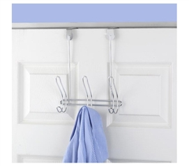 Compact 3-Hook - Over the Door - Hang Clothes And Dorm Stuff