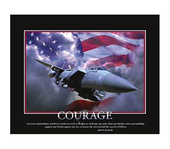 Courage airplane college dorm room poster cool dorm room for Cool posters for your room