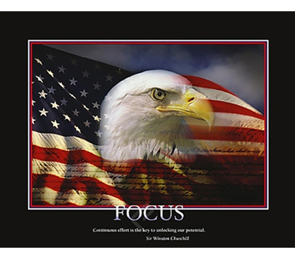 Focus Eagle College Dorm Room Poster Dorm Room Poster