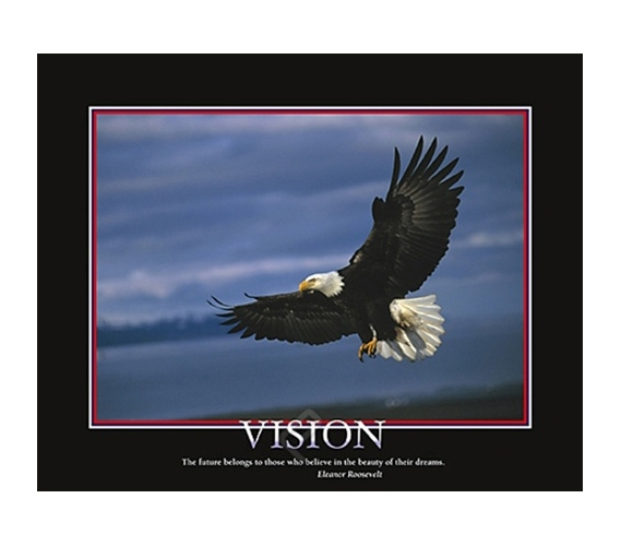 Vision Inspirational College Dorm Poster Super Fly Eagle
