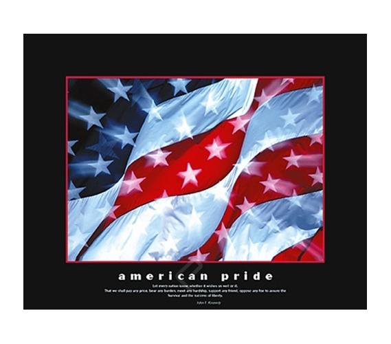 American Pride Flag College Dorm Poster Inspiring
