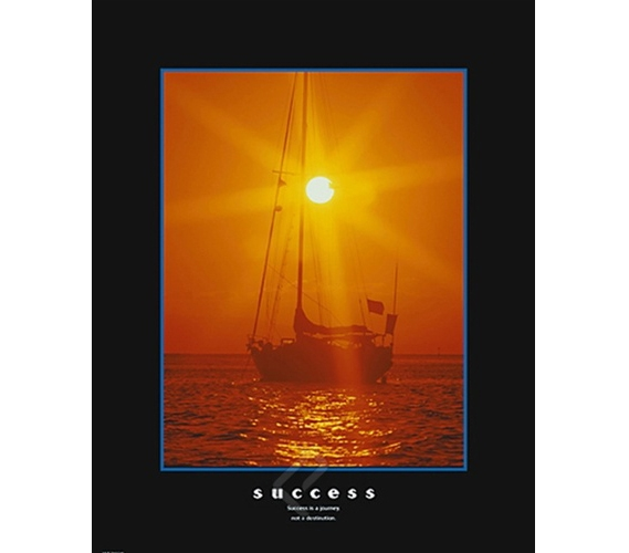 Success Sailing Inspirational College Dorm Poster Positive