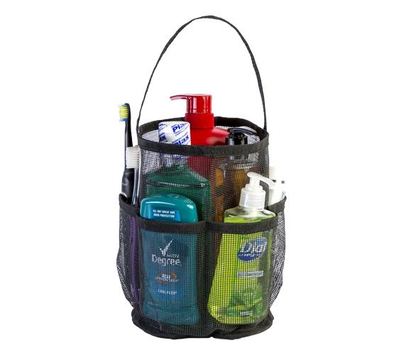 Canvas Black Mesh Tote Strongest Shower Bag Dorm Shower