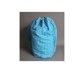 Essential Laundry Supplies - Polka Dot Laundry Tote - Ocean Blue - Great Color And Design