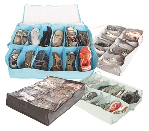 Cool Colors Under Bed Shoe Storage Vibrant Great For