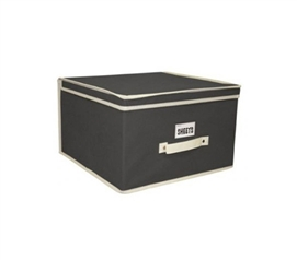 All Dorms Have Limited Space - Black & Cream Storage Organizers - Jumbo - Must Have For Dorm Storage