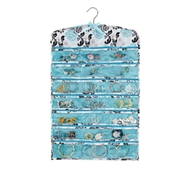 Stay Organized While Living In A Dorm - Jewelry Organizer - Aqua & Grey Floral Breeze