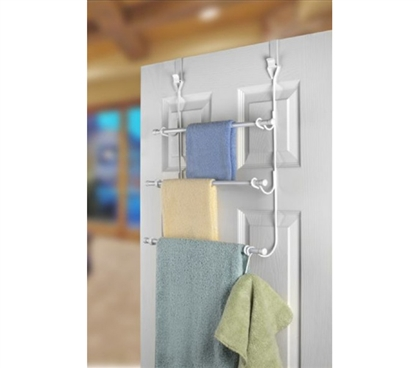 3 Rack Towel Holder For Over The Door Use Is A College