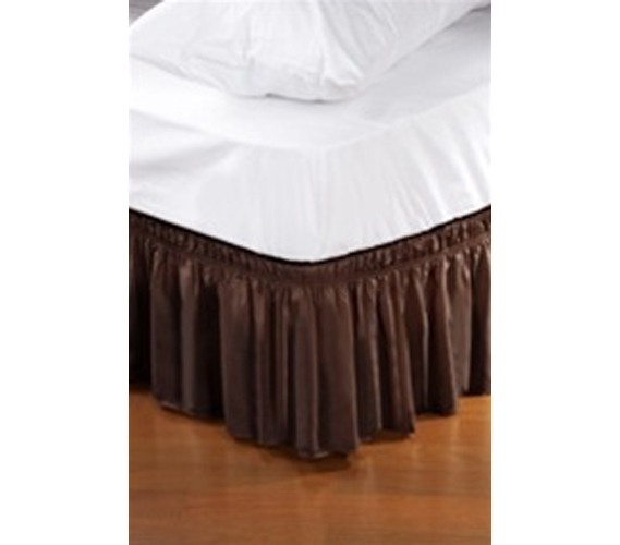 twin xl bed skirt chocolate extra long dorm bed accessory. Black Bedroom Furniture Sets. Home Design Ideas